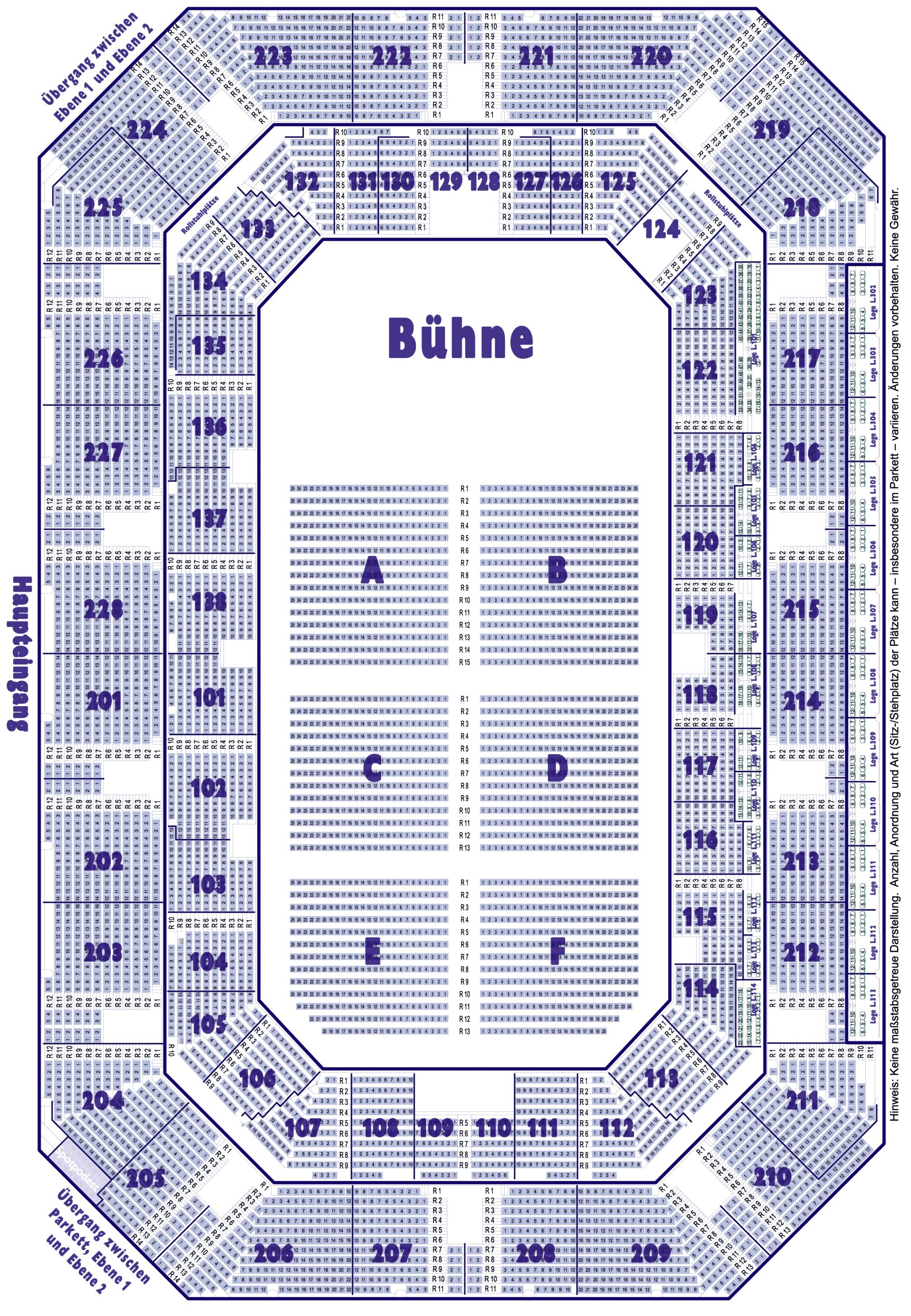 Saalplan Und Bestuhlung Der Arena Nurnberger Versicherung